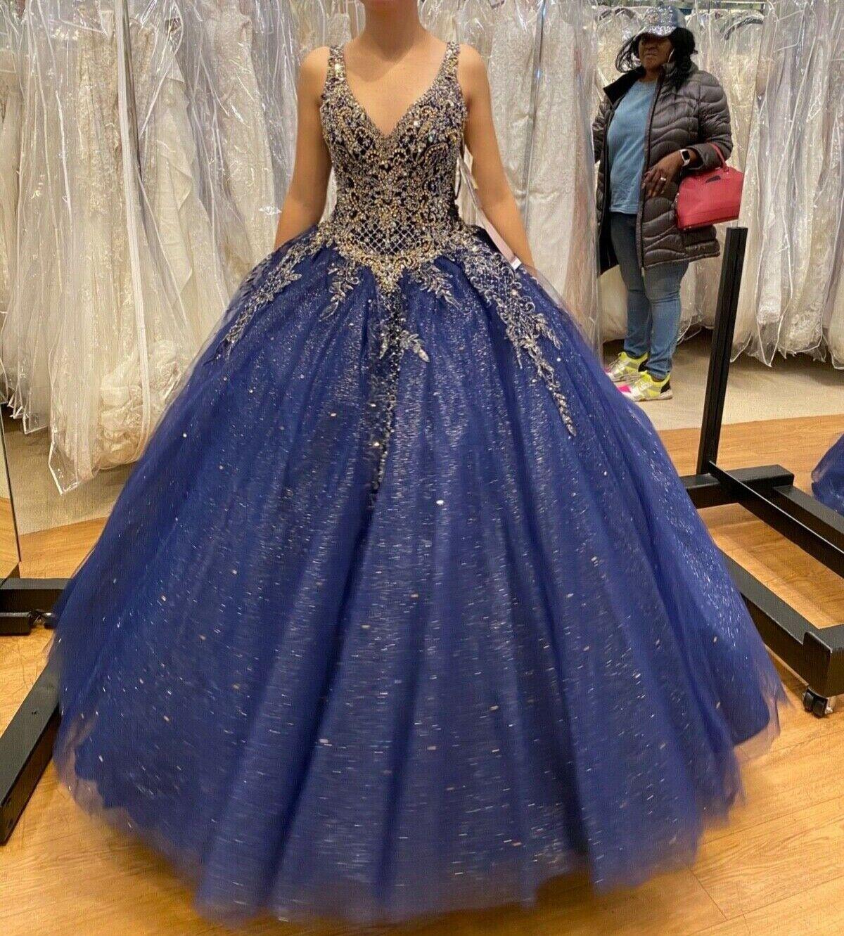 Sweet 16 dress, Crinoline (one size), Tiara, 3pc Jewels & Shoes sz8 all included
