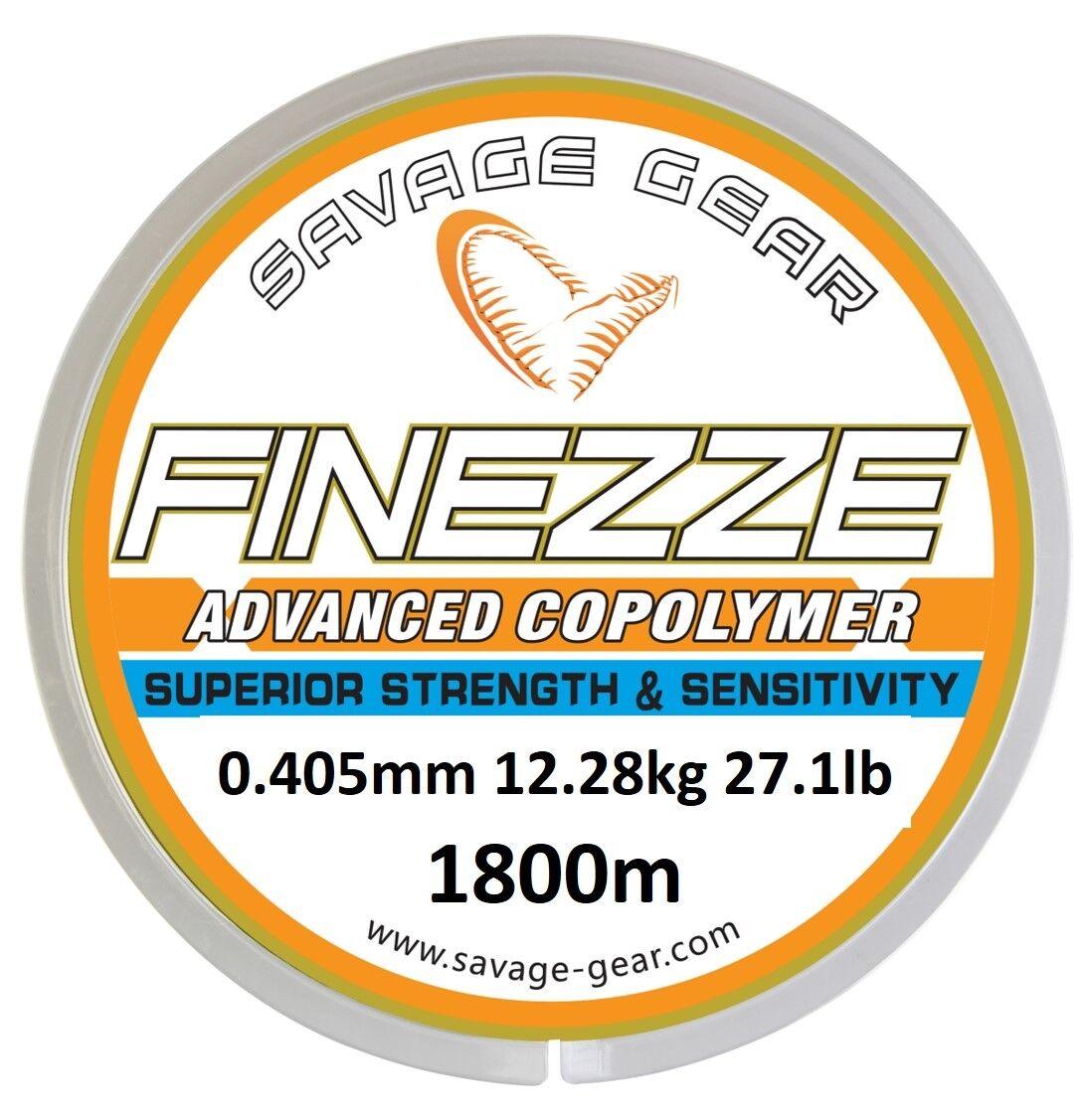 SAVAGE GEAR FINEZZE ADVANCED COPOLYMER 1800M MONO LINE BOAT BEACH SEA FISHING