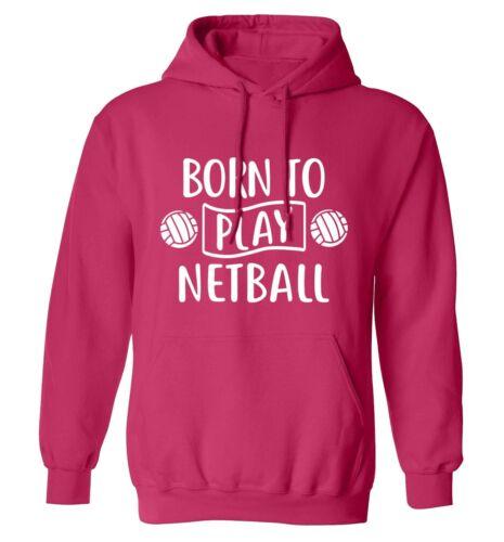 sweater sport gym game team ball net score 5414 Born to play netball hoodie
