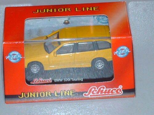 Schuco Modellauto BMW 320i Touring gelb Junior Line 1:72  Neu+OVP
