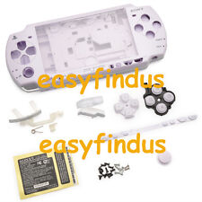 for PSP 2000 Full Housing Shell Case LR door screw button barcode sticker purple