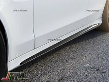 Carbon Fiber Side Skirts Cover CF Fits 2015+ M-Benz W205 C63 AMG Sedan Only