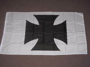 3X5-MALTESE-CROSS-FLAG-IRON-CROSS-GERMAN-GERMANY-F831