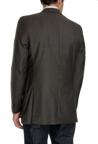 Alfani RED Slim Fit Taupe Brown Textured 100/% Wool Two Button Blazer Sportcoat