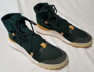 separation shoes 5d816 e76b3 Details about Adidas Tubular X 2.0 PrimeKnit Sneakers PK Shoes Men 9  Green/Yellow prime knit