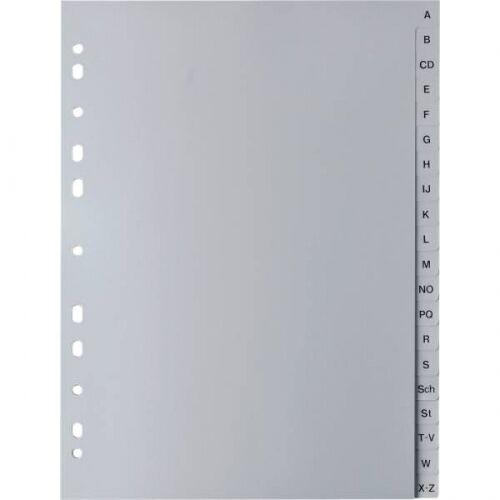 Register A-Z  A4 PP Buchstabenregister Ordner-Register 20-tlg ABC Plastik