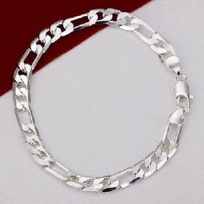 Asamo Herren Panzer Armband 925 Sterling Silber Plattiert Schmuck Damen A1219 Lassen Sie Unsere Waren In Die Welt Gehen