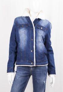 Con Bianco Tasche Giubbotto Jeans Pellicciotto Markup Invecchiato Woman YTnq0wRI