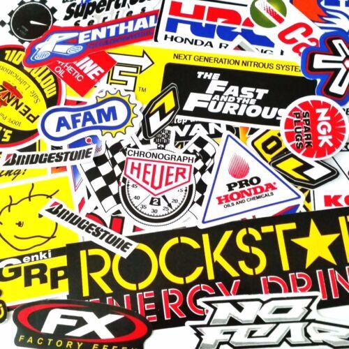 60 MIXED RANDOM STICKER DECAL CAR ATV BIKE RACING HELMET MOTORCROSS DIRT BMX # A
