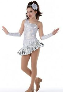 Sparkling Diamond Dance Costume Christmas Snowflake w/Mitts Headpiece Tap 6x7-CM