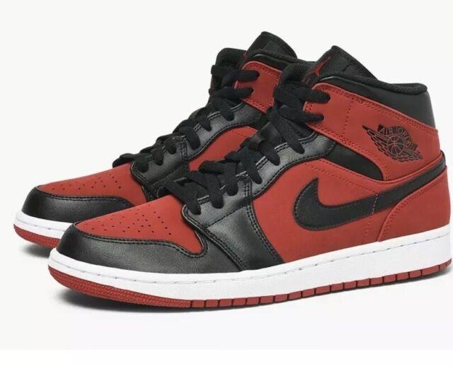 lowest price a4179 e7468 Nike Air Jordan 1 Mid Bred Men's Gym Red / Black-white Sz13