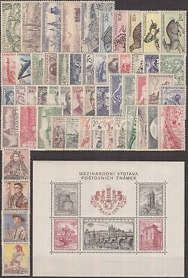 Czechoslovakia - 1955 Complete Year Set Stamps- Jahrgang - **mnh** - Cheap !!
