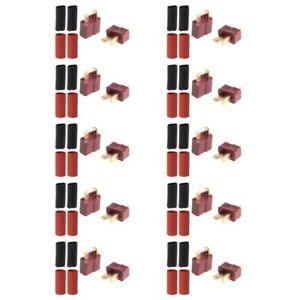 10-pares-Ultra-T-Plug-Conector-Decanos-Estilo-macho-hembra-con-20-un-Tubo-Retractil