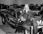 Mr. Norm's Super Challenger Funny Car with girl model Drag Racing 8x10 Photo 8D
