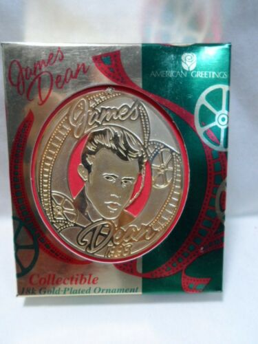 1998 American Greetings James Dean Collectible 18k Gold Plated Ornament