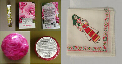Souvenir Bulgaria 3pcs Bulgarian Rose Edp, Soap Bar And Women Handkerchief Bello E Affascinante