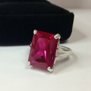 925-Solid-Silver-Natural-Certified-6-25-Carat-Ruby-Gemstone-Engagement-Ring