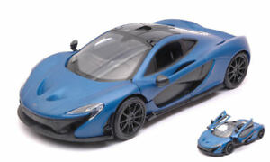 McLaren P1 2015 /'Satin Paint/' Matt Blue Matt Black 1:24 Model MOTORMAX