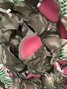 Victoria/'s Secret PINK Camouflage Wear Everywhere T-Shirt Lightly Lined Bra 36B