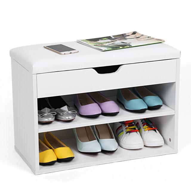 Songmics Étagère à Chaussures Banc de Rangement Capacité de 6 chaussures LHS20W