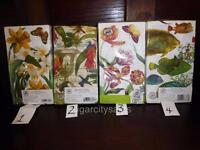 Paper Party Buffet Hostess Napkins 3ply Guest Towel 15 Ct Garden Floral Fish
