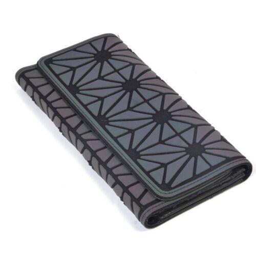 Geometric Luminous Wallet Purse Clutches Women Fashion Shard Lattice Wallet Bag