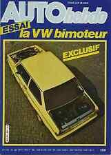 AUTO HEBDO n°281 du 27 Août 1981 VW JETTA BIMOTEUR