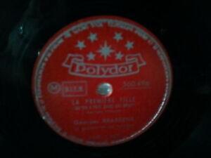 Georges Brassens Une Jolie Fleur 12eime 78 Tours 1954 Or Polydor