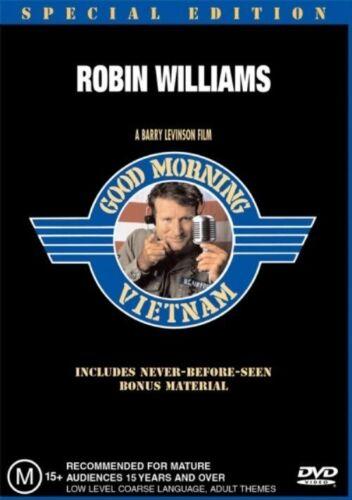 1 of 1 - GOOD MORNING VIETNAM DVD=ROBIN WILLIAMS=REGION 4 AUSTRALIAN RELEASE=LIKE NEW