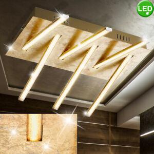 LED Decken Lampe Flur Küchen Bad Beleuchtung Gold Design Wohn-Ess-Zimmer Leuchte