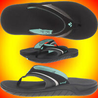 New✦womens✦reef✦1084✦rf001084✦girls Slap 3 Three✦sandals✦black Aqua✦7 8 9 10✦bkq