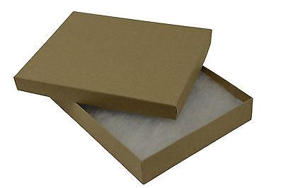KRAFT COTTON FILLED JEWELLERY GIFT PRESENTATION STORAGE BOXES - ALL SIZES