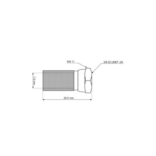 breite Mutter 7 mm 3x F-Stecker für SAT-Kabel Bis Ø 7,0mm CU-Vernickelt