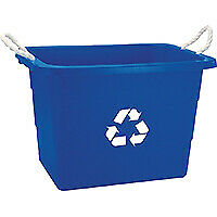 United-Solutions-TU0105-Recycling-Bin-19-gal-Capacity-Rope-Handle-Plastic-Blue
