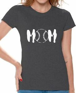 Baseball-MOM-T-shirts-Shirts-Top-for-Women-Sport-Mom-Gifts-for-Her-Mother-039-s-Day