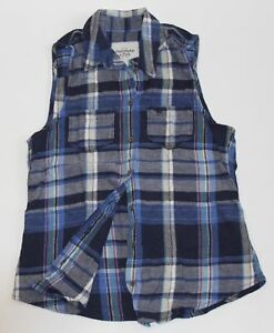 NWT-ABERCROMBIE-by-Hollister-Womens-Vintage-Classic-Plaid-Flannel-Shirt-XS-S-M