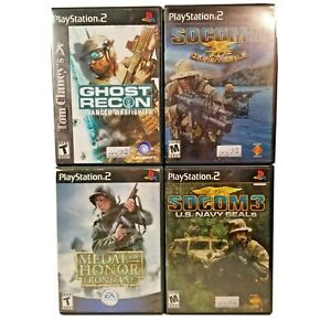 PS2-Medal-of-Honor-Frontline-Ghost-Recon-Socom-2-amp-3-Play-Station-2-Video-Games