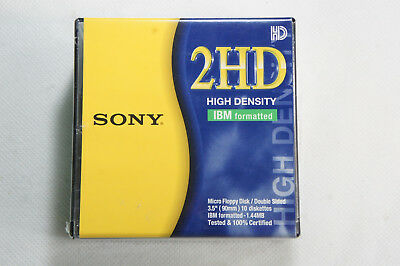 90MM 1.44MB 10-Pack ! 10MFD-2HDCF Sony Diskette 2HD IBM Formatted 3.5/""