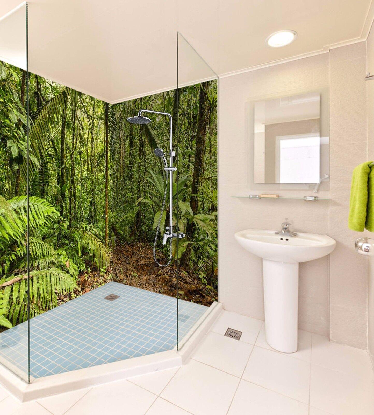 3D 3D 3D Jungle Tree 544 WallPaper Bathroom Print Decal Wall Deco AJ WALLPAPER AU 4b4b4d