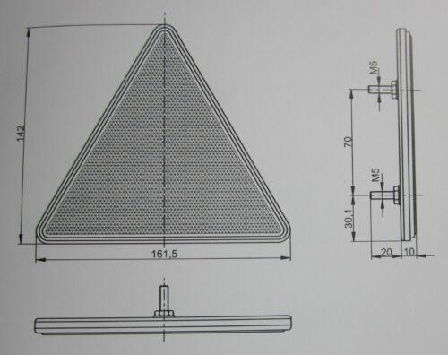 Triangle CATADIOPTRES AVEC CADRE camion voiture remorque UOT 024b