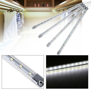 4Pcs Bar Kitchen Under Cabinet Counter LED Night Light Energy Saving 2 Colors
