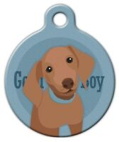 Good Boy Dachshund - Custom Personalized Pet Id Tag For Dog And Cat Collars
