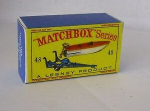 Repro Box Matchbox 1:75 Nr.48 Trailer/Sportb<wbr/>oat