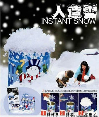 DIY Instant artificial water snow/making CAN TIN KIDS