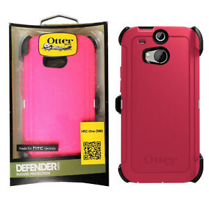 best service eb011 cf2e2 Details about OtterBox Defender Series Shock Absorbing Case with Clip  Holster for HTC One M8