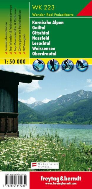Freytag Berndt Wanderkarten, WK 223, Naturarena Kärnten - Gailtal - Gitschtal  -