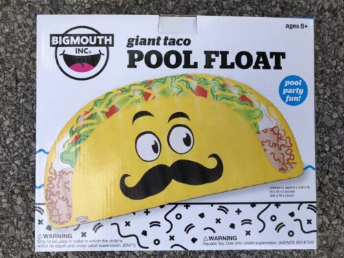 "Patch Kit 61""x30x5 Piscine Flotteur Taco Gonflable Adultes Enfants Résistant Tube radeau"