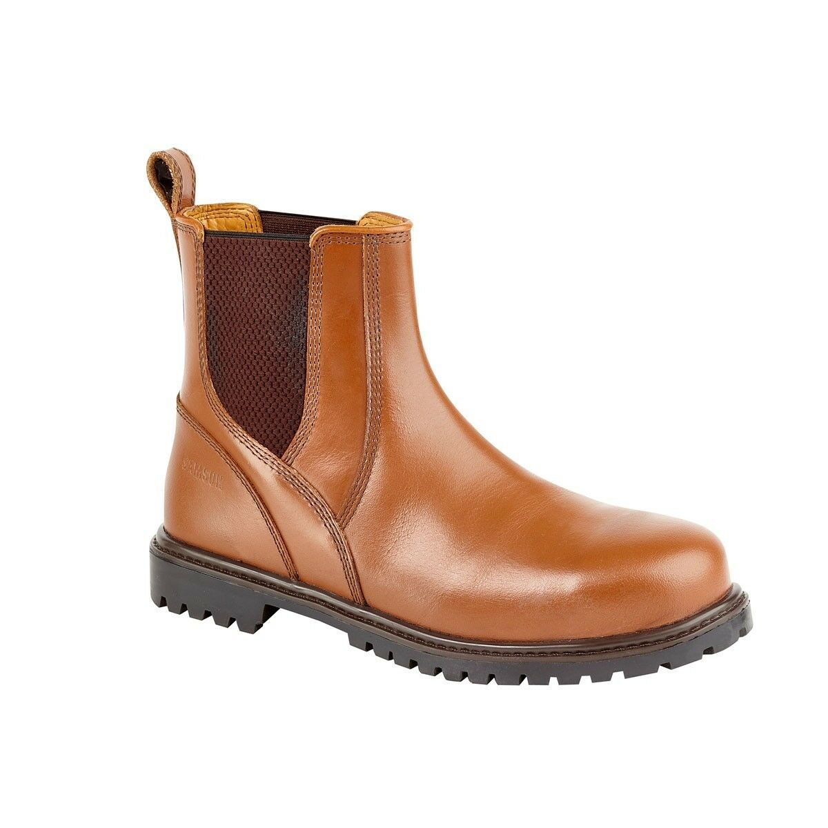 SAMSON 7046 WAXY REDSKIN CHELSEA DEALER BOOT S3 WITH STEEL TOECAP SIZES 6-12