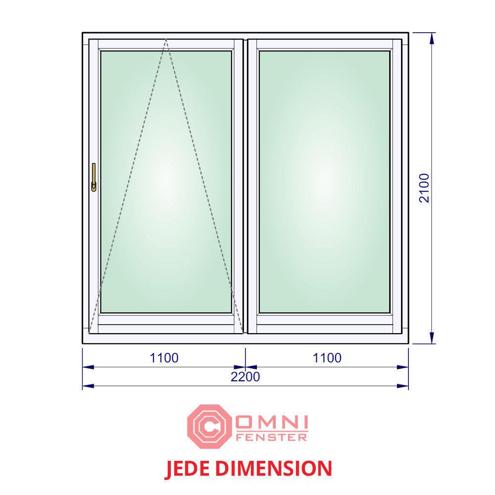 Doppelfenster Holzfenster 220 x 210cm Kiefer TOP TOP TOP QUALITÄT 28ae54