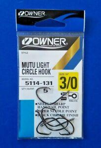 2 Packs Owner Mutu Light Circle Hooks Size 4